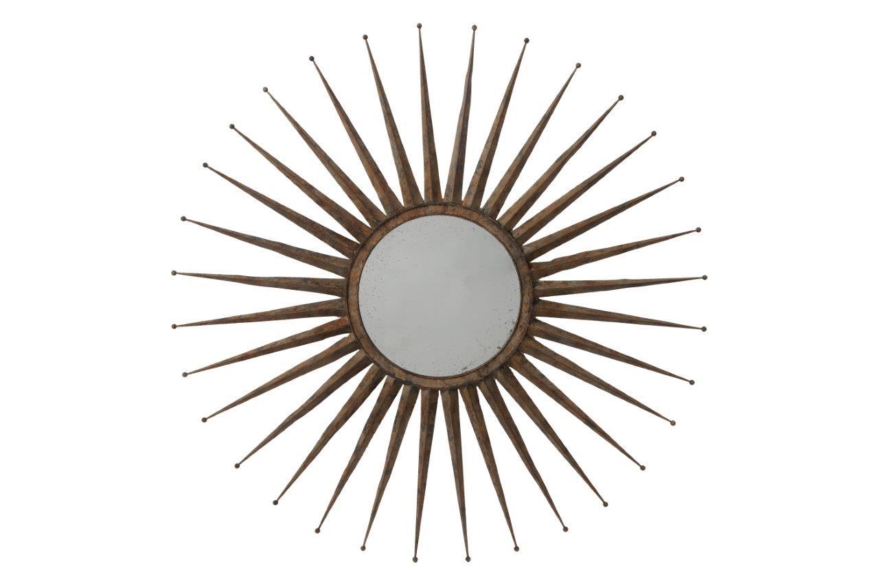 Зеркало Starburst GrandeНастенные зеркала<br>&amp;lt;div&amp;gt;Это не просто предмет интерьера, а настоящий «звездный взрыв». Starburst Grande – еще одна работа молодых и амбициозных дизайнеров компании DG Home. &amp;amp;nbsp;Металлический корпус выполнен &amp;quot;под старину&amp;quot;. Но благодаря своей неординарной форме, зеркало подойдет и современному интерьеру.&amp;lt;br&amp;gt;&amp;lt;/div&amp;gt;&amp;lt;div&amp;gt;&amp;lt;br&amp;gt;&amp;lt;/div&amp;gt;Материал: металл, зеркало<br><br>Material: Металл<br>Depth см: 3,99<br>Diameter см: 116,84