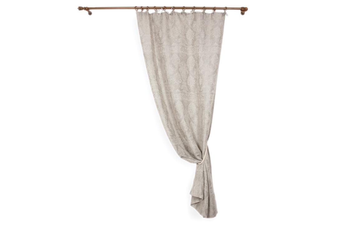 Комплект штор на завязках ФрескоШторы<br>Комплект штор на завязках «Фреско» сшит из высококлассного текстиля, на 70% состоящего из натурального льна и на 30% из нежнейшего хлопка.&amp;amp;nbsp;&amp;lt;div&amp;gt;Ткань имеет кремневый серый цвет и украшена богатым рисунком более светлого оттенка. Шторы выполнены в классическом стиле. Они прекрасно дополнят оформление гостиной или спальни, сделав помещение изысканнее и уютнее.&amp;lt;/div&amp;gt;<br><br>Material: Лен<br>Length см: 280<br>Width см: 150