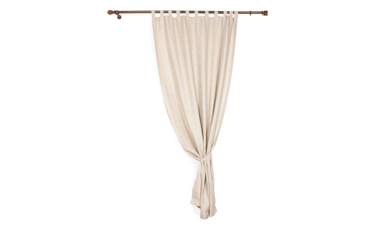 Комплект штор на петлях ШамиссоШторы<br>Комплект штор на петлях «Шамиссо» сшит из высококлассного текстиля, на 100% состоящего из натурального льна. Ткань имеет светло-серый цвет и украшена богатым рисунком.&amp;amp;nbsp;&amp;lt;div&amp;gt;Шторы выполнены в классическом стиле. Они прекрасно дополнят оформление гостиной или спальни, сделав помещение изысканнее и уютнее.&amp;lt;/div&amp;gt;<br><br>Material: Лен<br>Length см: 280<br>Width см: 150