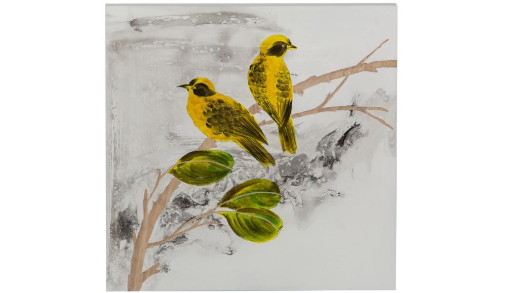 Картина SongbirdsКартины<br>&amp;quot;Songbirds&amp;quot; ? прекрасная картина, пронизанная элегантным спокойствием. Она гармонично дополнит собой сдержанные скандинавские или классические интерьеры. Несмотря на достаточно яркие цвета, такой декор будет выглядеть строго и скромно благодаря изящной технике рисования при помощи мазка.&amp;lt;div&amp;gt;&amp;lt;br&amp;gt;&amp;lt;/div&amp;gt;&amp;lt;div&amp;gt;Отделка: дерево.&amp;lt;/div&amp;gt;<br><br>Material: Дерево<br>Length см: None<br>Width см: 40<br>Depth см: 4<br>Height см: 40