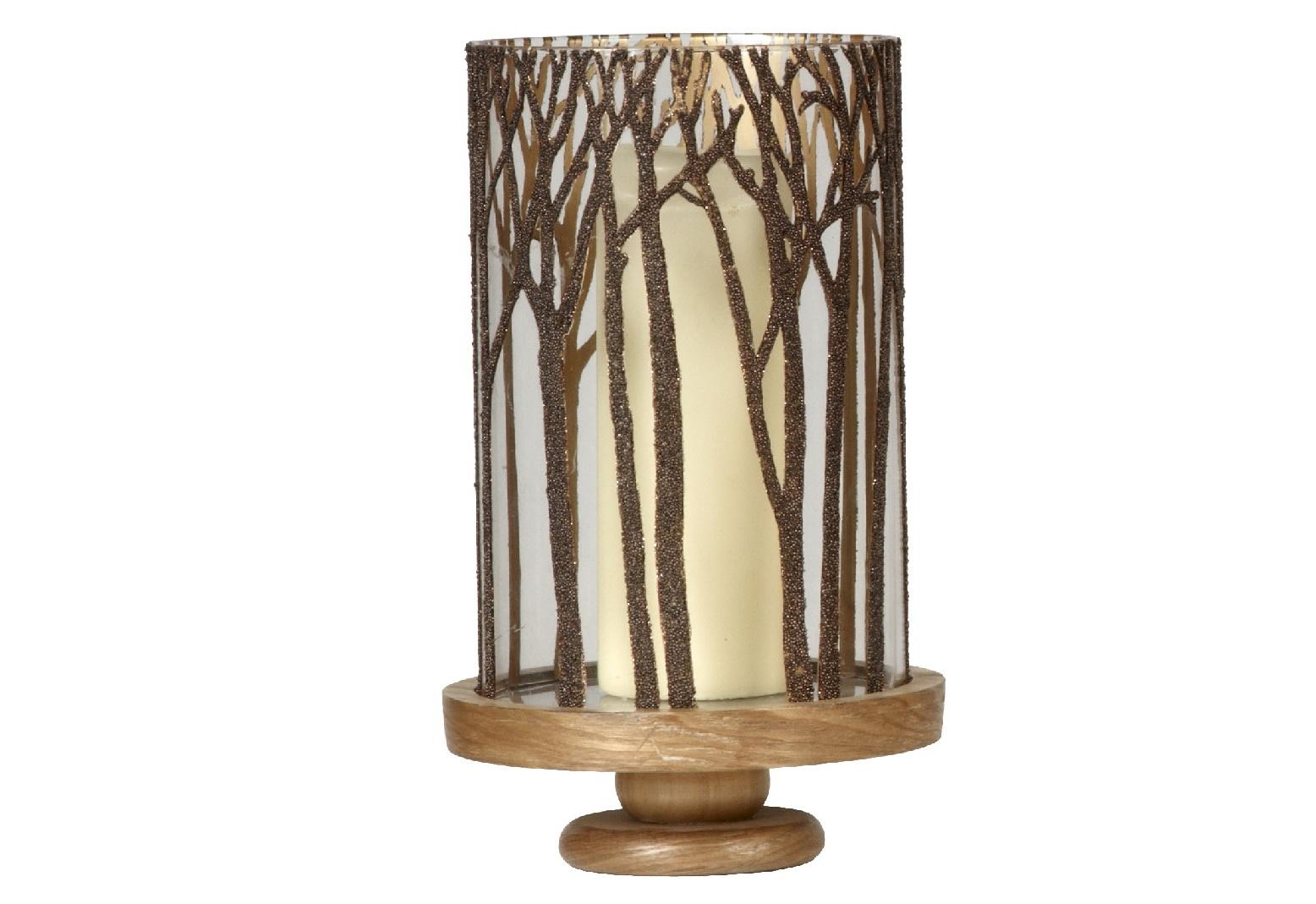 Подсвечник StopperПодсвечники<br>Что скрывается за деревьями? Светящиеся мотыльки? Нет, это огонек свечи, который проглядывает сквозь стеклянные стенки оригинального подсвечника &amp;quot;Stopper&amp;quot;. Такой декор придется по вкусу любителям естественности, стремящимся окружить себя вещами, напоминающими о красоте природы.&amp;amp;nbsp;<br><br><br><br>&amp;lt;div&amp;gt;&amp;lt;br&amp;gt;&amp;lt;/div&amp;gt;&amp;lt;div&amp;gt;Отделка: дерево/стекло.&amp;lt;/div&amp;gt;<br><br>Material: Стекло<br>Height см: 38<br>Diameter см: 23