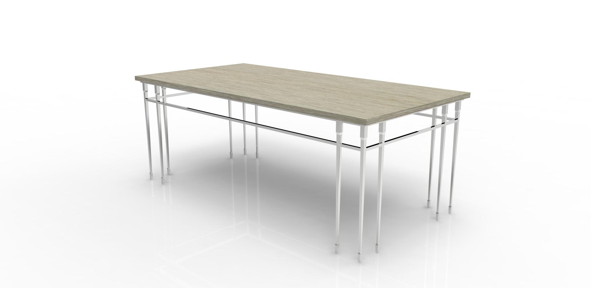 Стол обеденный Gotic dining tableОбеденные столы<br>Придайте своему дому атмосферу заброшенного особняка со столом &amp;quot;Gotic Dining Table&amp;quot;. Он выполнен в промышленном стиле, который делает его облик величественным и загадочным одновременно. Интересная конструкция ножек и подстолья придает виду стола утонченность, а столешница из натурального дерева светлого оттенка добавляет роскошь.&amp;amp;nbsp;&amp;lt;div&amp;gt;&amp;lt;br&amp;gt;&amp;lt;/div&amp;gt;&amp;lt;div&amp;gt;Отделка: дерево/металл.&amp;lt;/div&amp;gt;<br><br>Material: Дерево<br>Ширина см: 200<br>Высота см: 76<br>Глубина см: 100