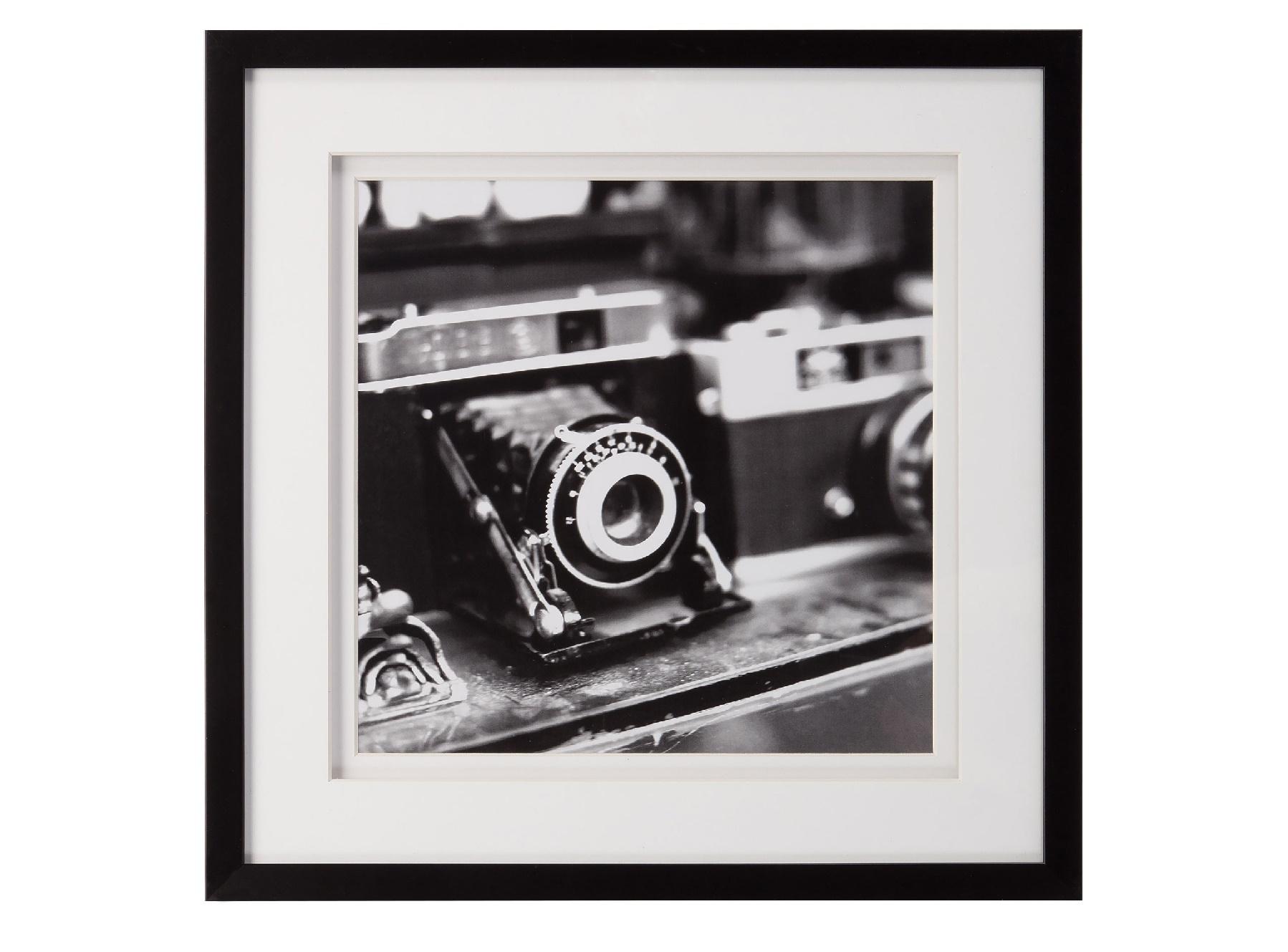 Постер с паспарту в раме Rare FindsПостеры<br>&amp;quot;Rare Finds&amp;quot; ? интересный постер, на котором изображены части старинных фотоаппаратов. Этот настенный декор в черно-белых тонах позволит добавить винтажный антураж в оформление кабинета или гостиной. Высокое качество исполнения покорит любого.&amp;amp;nbsp;&amp;lt;div&amp;gt;&amp;lt;br&amp;gt;&amp;lt;/div&amp;gt;&amp;lt;div&amp;gt;Рама - дерево.&amp;lt;/div&amp;gt;<br><br>Material: Бумага<br>Length см: None<br>Width см: 44<br>Depth см: 3<br>Height см: 44