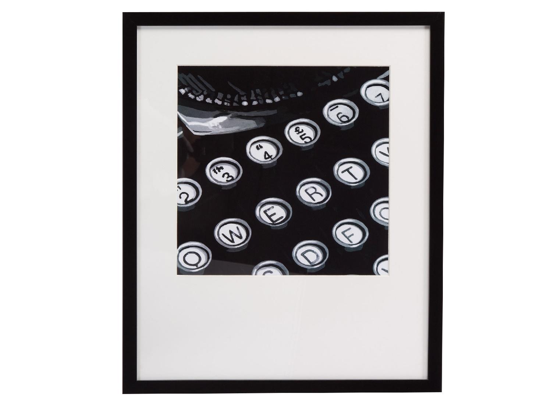 Постер с паспарту в раме Graphic TypeПостеры<br>&amp;quot;Graphic Type&amp;quot; ? картина, которая отлично дополнит собой рабочие кабинеты успешных и серьезных людей. Изображение печатной машинки идеально подойдет для оформления таких комнат. Классическое сочетание черного и белого цветов позволит декору смотреться элегантно.&amp;amp;nbsp;&amp;lt;div&amp;gt;&amp;lt;br&amp;gt;&amp;lt;/div&amp;gt;&amp;lt;div&amp;gt;Рама - дерево.&amp;lt;/div&amp;gt;<br><br>Material: Бумага<br>Width см: 44<br>Depth см: 3<br>Height см: 53
