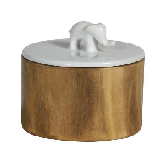 Ваза White GuardЕмкости для хранения<br>Ваза &amp;quot;White Guard&amp;quot; позволит вам элегантно рассортировать продукты, хранящиеся на кухне. В этой необычной емкости вы сможете держать ароматные индийские специи или пряные травы. Глянцевая белая крышка с фигуркой слона намекнет на то, что ваза скрывает в себе экзотические и редкие продукты.&amp;amp;nbsp;&amp;lt;div&amp;gt;&amp;lt;br&amp;gt;&amp;lt;/div&amp;gt;&amp;lt;div&amp;gt;Отделка: дерево/керамика.&amp;lt;/div&amp;gt;<br><br>Material: Дерево