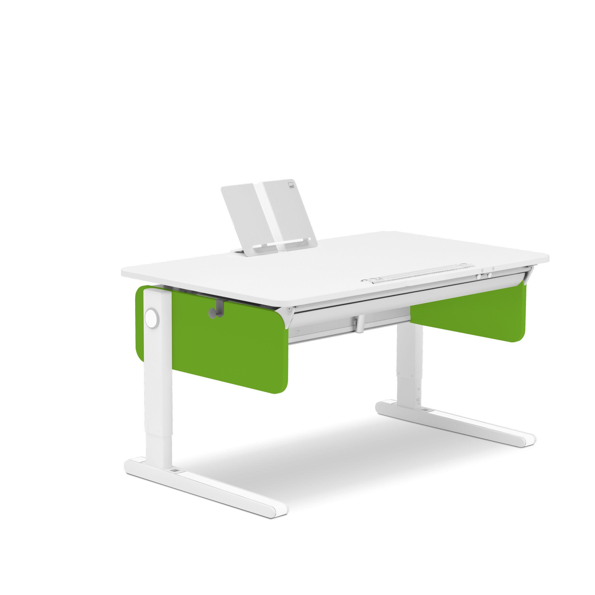 Стол Champion Right-UpДетские письменные столики<br>Детский письменный стол-трансформер Champion Right-Up изготовлен из экологически безопасной ЛДСП класса Е1 белого цвета толщиной 19 мм. Ключевая особенность модели заключается в том, что поверхность парты Молл разделена на функциональные зоны. С правой стороны располагается регулируемая часть столешницы, которая делает изделие эргономичным для детей левшей. Стационарная часть поверхности станет удобным местом для размещения тетрадей, учебных материалов, лампы, подставок для книг и ручек с карандашами. В конструкцию модели внедрен новый запатентованный регулирующий механизм, который позволит с легкостью поднимать и опускать столешницу на высоту до 20 градусов и избежать травм при эксплуатации изделия.&amp;lt;br&amp;gt;&amp;lt;br&amp;gt;Благодаря ему при опущенной столешнице обе части стола вплотную примыкают друг другу, а также отсутствует технологический зазор. В задней части модели располагается кабель-канал, куда можно убрать провода от компьютерной техники, с которой работает ребенок. Стандартная комплектация стола-трансформера предполагает наличие пластиковой магнитной линейки, которая заодно будет служить препятствием для соскальзывания предметов при поднятой столешнице. Также изделие оснащено боксом с цветными заглушками и декоративными лентами, выполненными в 8 различных цветах. Кроме того, в стандартную комплектацию входит подставка для книг с функцией складывания – ее можно брать с собой.&amp;lt;br&amp;gt;&amp;lt;br&amp;gt;Высота регулировки изделия – 53 до 82 см. Стол Champion подойдет для ребенка ростом от 109. Регулируемая часть столешницы имеет размеры 69х52 см. Предусмотрена опорная рама Comfort.&amp;lt;br&amp;gt;Можно выбрать разные цветовые решения!&amp;lt;br&amp;gt;Наличие цветов уточняйте у менеджера.&amp;lt;br&amp;gt;Поставка: в разобранном виде, инструкция по сборке прилагается.&amp;lt;br&amp;gt;Возврат производится при условии целостности упаковки и&amp;amp;nbsp; отсутствии следов сборки.&amp;l