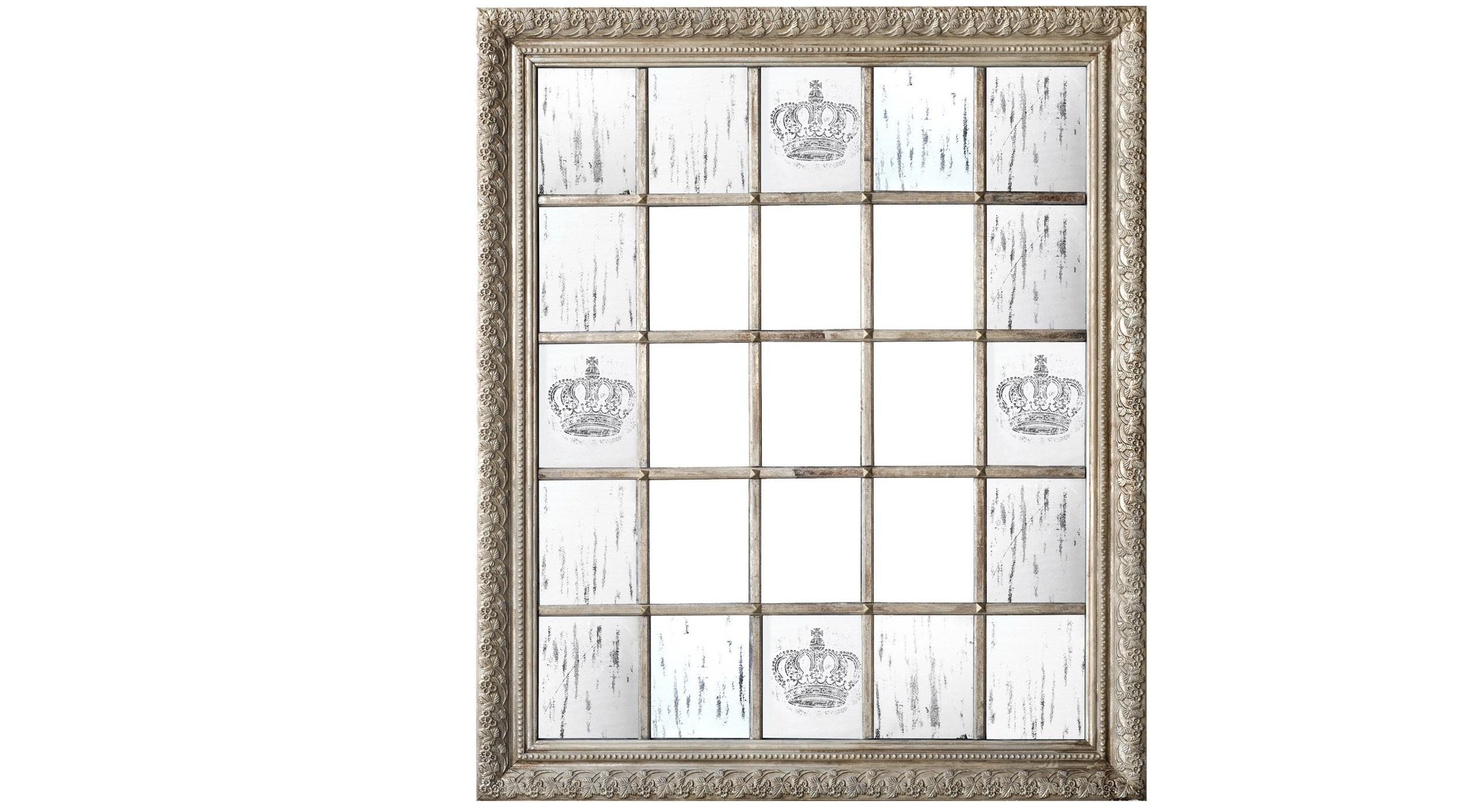 Зеркало настенноеНастенные зеркала<br>Это оригинальное зеркало больше похоже на предмет винтажного искусства. Оно имеет строгую геометрию, составленную множеством квадратов. Правильную симметрию нарушают лишь величественные узоры короны, нанесенные на поверхность. Им вторит благородная золотистая рама, украшенная объемным орнаментом. Комбинация всех этих деталей делает зеркало отличным декором как для классических, так и для современных интерьеров.&amp;amp;nbsp;&amp;lt;div&amp;gt;&amp;lt;br&amp;gt;&amp;lt;/div&amp;gt;&amp;lt;div&amp;gt;Материал - дерево, зеркало.&amp;amp;nbsp;&amp;lt;/div&amp;gt;&amp;lt;div&amp;gt;Вес - 38.6 кг.&amp;lt;/div&amp;gt;<br><br>Material: Дерево<br>Ширина см: 138<br>Высота см: 162<br>Глубина см: 6