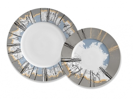 Дачи, сет из двух тарелок