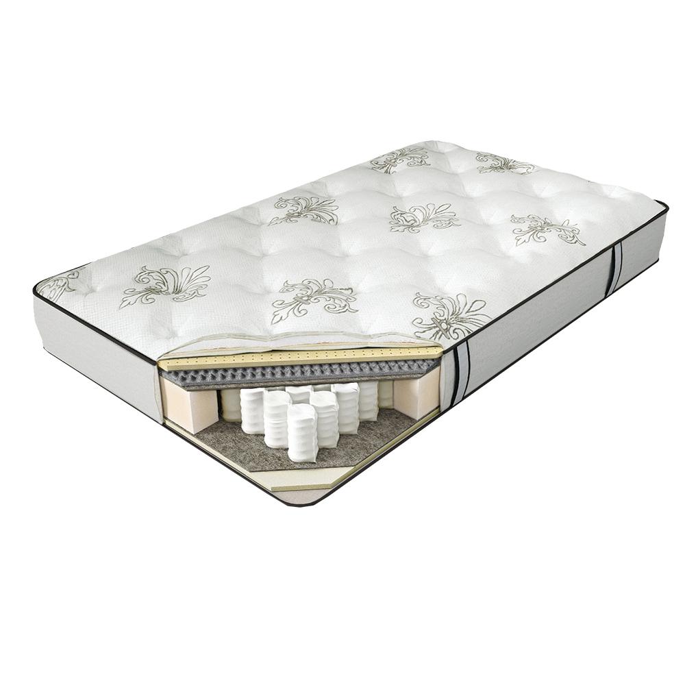 Матрас SERTA FLORINA 90*190Пружинные односпальные матрасы<br>&amp;lt;div&amp;gt;1. Comfort Quilt - система комфортности с тканью из натурального хлопка&amp;amp;nbsp;&amp;lt;/div&amp;gt;&amp;lt;div&amp;gt;2. Memory Foam - высокоэластичный слой с эффектом памяти&amp;amp;nbsp;&amp;lt;/div&amp;gt;&amp;lt;div&amp;gt;3. Eco Latex - мягкий слой из натурального латекса&amp;amp;nbsp;&amp;lt;/div&amp;gt;&amp;lt;div&amp;gt;4. BambooFlex - пористый материал с углевой пропиткой, обладает микромассажным эффектом&amp;amp;nbsp;&amp;lt;/div&amp;gt;&amp;lt;div&amp;gt;5. Organic Flax - защитный слой из натурального льна&amp;amp;nbsp;&amp;lt;/div&amp;gt;&amp;lt;div&amp;gt;6. Serta Support System - фирменная система поддержки позвоночника&amp;amp;nbsp;&amp;lt;/div&amp;gt;&amp;lt;div&amp;gt;7. Total Edge Support - запатентованная система усиления периметра матраса&amp;lt;/div&amp;gt;<br><br>Material: Текстиль
