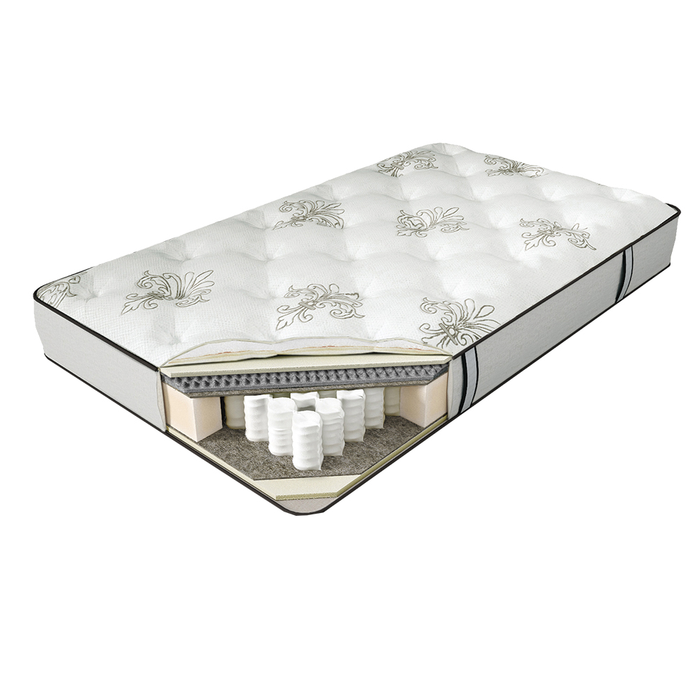 Матрас SERTA SAN MARINO 120*190Пружинные полутороспальные матрасы<br>&amp;lt;div&amp;gt;1. Comfort Quilt - система комфортности с тканью из натурального хлопка&amp;amp;nbsp;&amp;lt;/div&amp;gt;&amp;lt;div&amp;gt;2. Memory Foam - высокоэластичный слой с эффектом памяти&amp;amp;nbsp;&amp;lt;/div&amp;gt;&amp;lt;div&amp;gt;3. Eco Latex - мягкий слой из натурального латекса&amp;amp;nbsp;&amp;lt;/div&amp;gt;&amp;lt;div&amp;gt;4. BambooFlex - пористый материал с углевой пропиткой, обладает микромассажным эффектом&amp;amp;nbsp;&amp;lt;/div&amp;gt;&amp;lt;div&amp;gt;5. Organic Flax - защитный слой из натурального льна&amp;amp;nbsp;&amp;lt;/div&amp;gt;&amp;lt;div&amp;gt;6. Serta Support System - фирменная система поддержки позвоночника&amp;amp;nbsp;&amp;lt;/div&amp;gt;&amp;lt;div&amp;gt;7. Total Edge Support - запатентованная система усиления периметра матраса&amp;lt;/div&amp;gt;<br><br>Material: Текстиль<br>Length см: 190<br>Width см: 120<br>Height см: 25