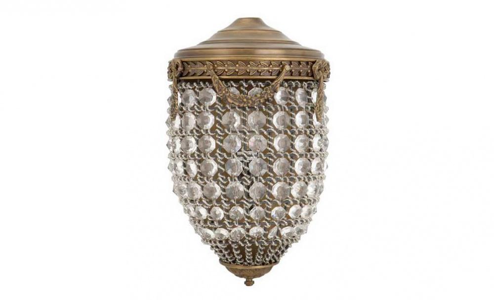 Бра EmperorБра<br>Оформление лампы &amp;quot;Emperor&amp;quot; полно изысканности и гламура. Классическая форма, делающая отсылку к старинным фонарям, добавляет дизайну некую таинственность. Роскошная отделка из стеклянных украшений позволяет винтажному бра выглядеть ярко. Латунный каркас, дополненный резными орнаментами сдерживает помпезность шикарного облика, который не оставит равнодушными ценителей эффектных предметов.&amp;lt;div&amp;gt;&amp;lt;br&amp;gt;&amp;lt;/div&amp;gt;&amp;lt;div&amp;gt;Количество ламп (1), цоколь (14Е), мощность (40Вт).&amp;lt;/div&amp;gt;<br><br>Material: Латунь<br>Length см: 20<br>Width см: 12<br>Height см: 32