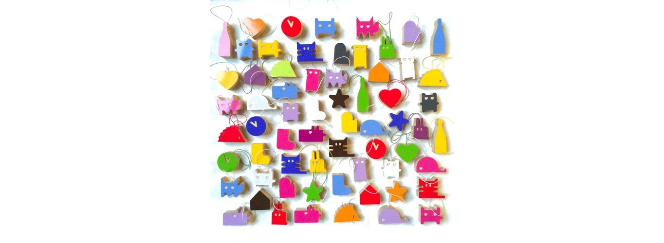 набор из 64 игрушек разноцветныеНовогодние игрушки<br>Размер каждой игрушки 55х75 мм&amp;lt;br&amp;gt;<br><br>Material: Пластик<br>Ширина см: 5<br>Высота см: 7