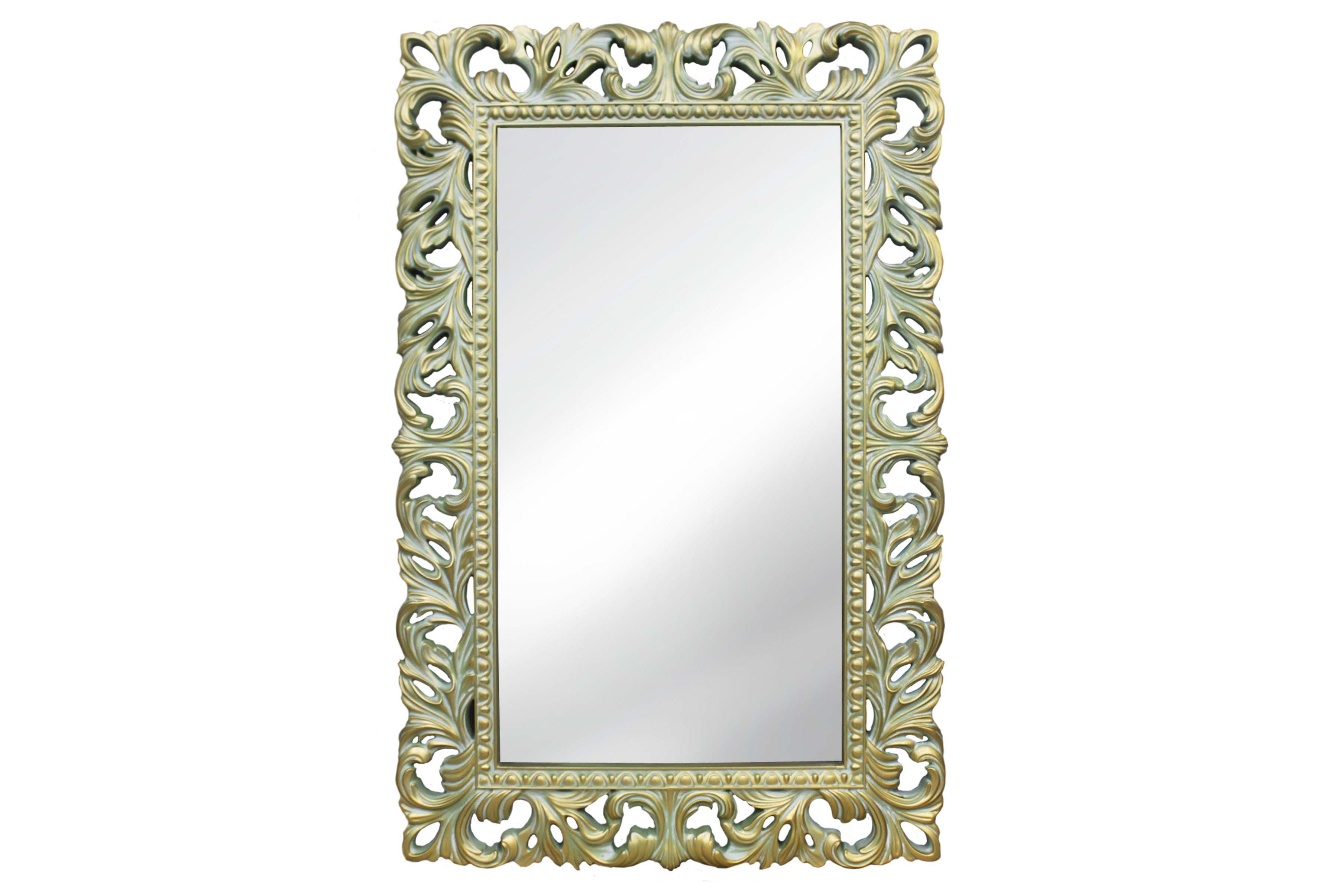 Интерьерное Итальянское зеркалоНастенные зеркала<br>Это зеркало в резной винтажной раме выделяется очень нежным, мягким цветовым решением. Сочетание светлого оливкового оттенка с благородной патиной дополняет роскошная позолота. Рама выполнена из полиуретана ? достаточно жесткого и долговечного, ставшего в короткий срок любимым материалом известных мастеров. Поверхность влагоустойчива, поэтому зеркало можно повесить в ванной.&amp;lt;div&amp;gt;&amp;lt;span style=&amp;quot;line-height: 37.5374px;&amp;quot;&amp;gt;Исполнение: Олива Золото Патина&amp;lt;/span&amp;gt;&amp;lt;/div&amp;gt;<br><br>Material: Полиуретан<br>Ширина см: 63<br>Высота см: 95<br>Глубина см: 4