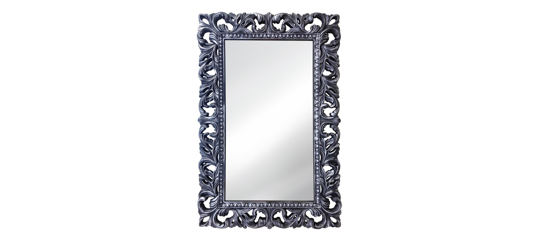 Винтажное Итальянское зеркалоНастенные зеркала<br>&amp;lt;div&amp;gt;&amp;lt;div&amp;gt;&amp;lt;div&amp;gt;Рама винтажного зеркала окрашена в черный цвет с серебряным напылением ? очень стильное, холодное и немного брутальное цветовое решение. Резные украшения изящны, каждое из них выполнено вручную. Материалом для этого послужил композитный полиуретан ? прочный и жесткий, ему действительно &amp;quot;сноса нет&amp;quot;. Он не страдает от влаги и позволяет повесить зеркало в ванной или другом влажном помещении.&amp;lt;/div&amp;gt;&amp;lt;/div&amp;gt;&amp;lt;/div&amp;gt;<br><br>Material: Полиуретан<br>Ширина см: 75<br>Высота см: 115<br>Глубина см: 4