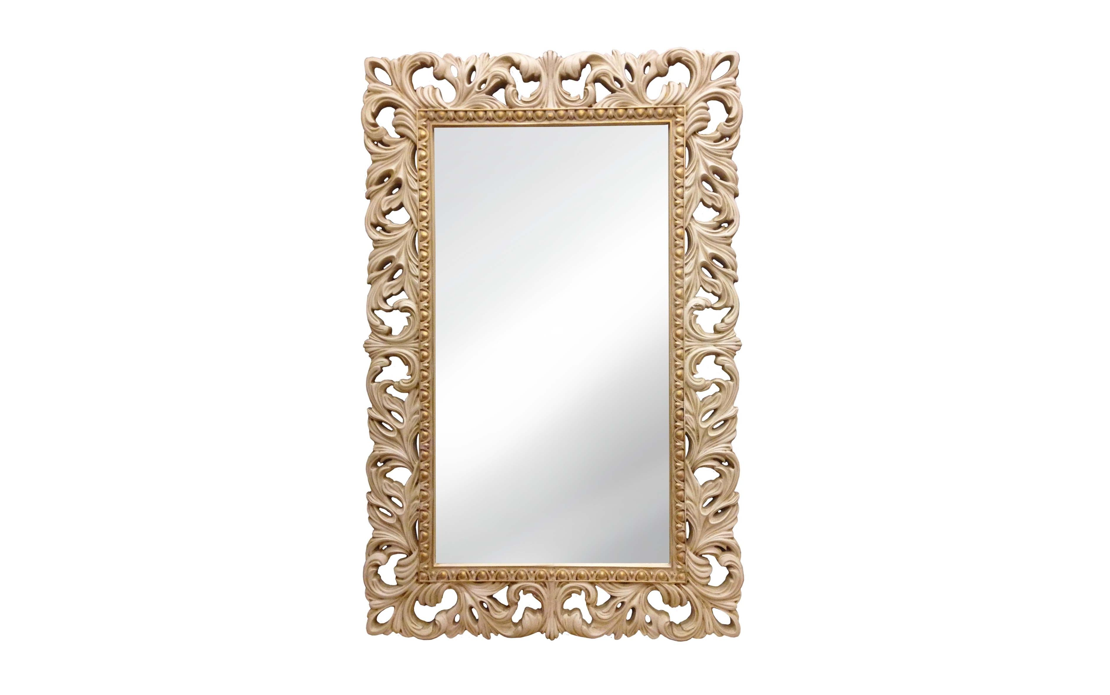 Винтажное Итальянское ЗеркалоНастенные зеркала<br>&amp;lt;div&amp;gt;Это зеркало с резной чудесной рамой ? отличное украшение для девичьей комнаты, дамского будуара, да и любого помещения в светлых тонах, в классическом стиле или духе Прованса. Сложное окрашивание и искусственное состаривание придают особый колорит. А в качестве материала для рамы используется мебельный пенополиуретан, очень практичный, твердый, стойкий к воздействию влаги.&amp;lt;/div&amp;gt;&amp;lt;div&amp;gt;&amp;lt;br&amp;gt;&amp;lt;/div&amp;gt;&amp;lt;div&amp;gt;Цвет:&amp;amp;nbsp;Слоновая кость Золото Патина&amp;lt;/div&amp;gt;<br><br>Material: Полиуретан<br>Ширина см: 63<br>Высота см: 95<br>Глубина см: 4