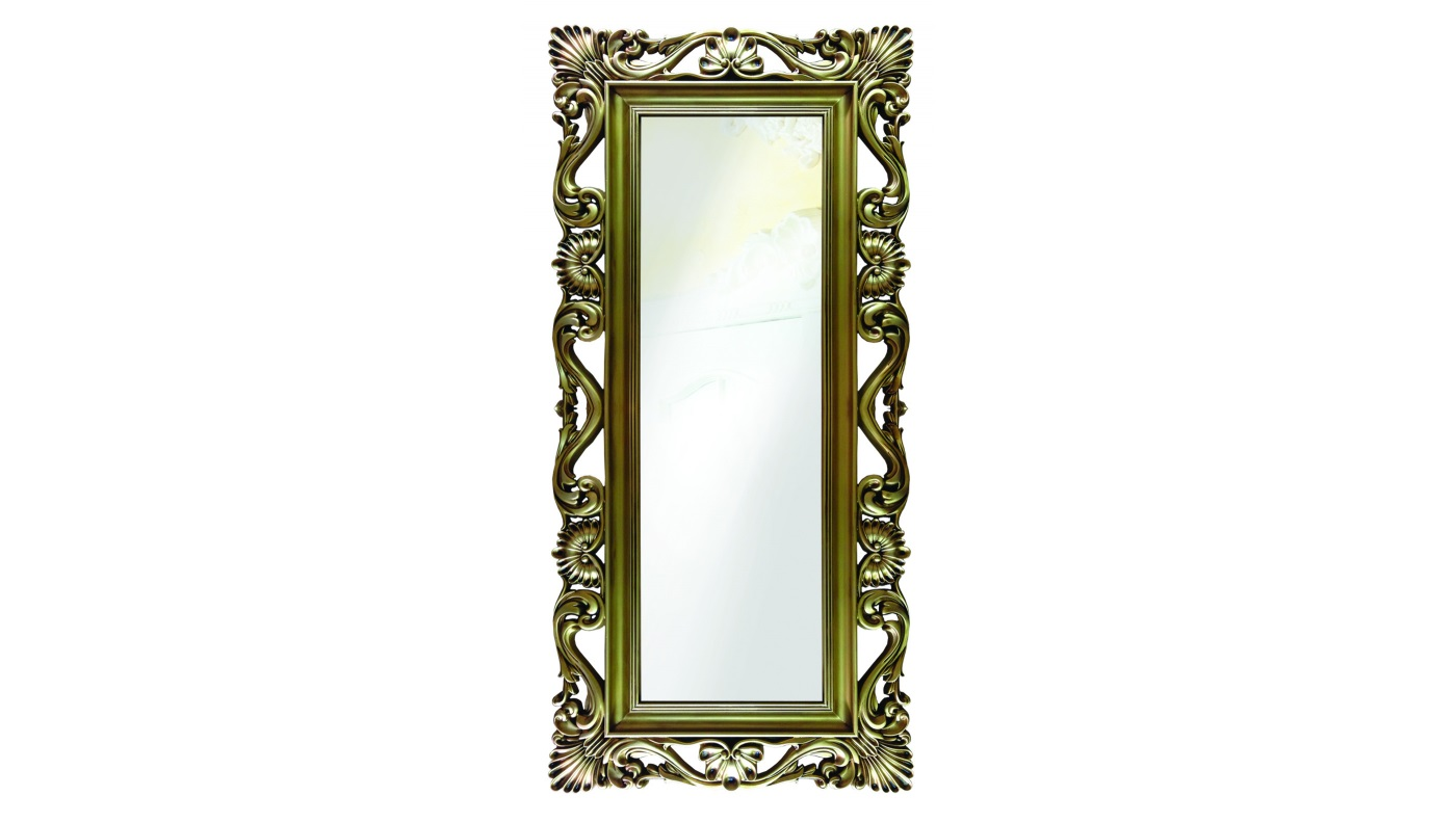 Напольное зеркало интерьерноеНапольные зеркала<br>Это напольное высокое зеркало заключено в винтажную резную раму. И хотя она выполнена из современного мебельного пенополиуретана, выглядит ? точно старинное деревянное обрамление, патинированное золотом. Композитный материал не страшится влаги, практичен и прост в уходе, очень крепок и долговечен. На его поверхности не образуются трещины и сколы, служить он будет долгие годы.&amp;lt;br&amp;gt;&amp;lt;br&amp;gt;&amp;lt;div&amp;gt;&amp;lt;div&amp;gt;&amp;lt;span style=&amp;quot;line-height: 24.9999px;&amp;quot;&amp;gt;Цвет:&amp;amp;nbsp;Золото Патина&amp;lt;/span&amp;gt;&amp;lt;/div&amp;gt;&amp;lt;/div&amp;gt;<br><br>Material: Полиуретан<br>Ширина см: 85<br>Высота см: 186<br>Глубина см: 4