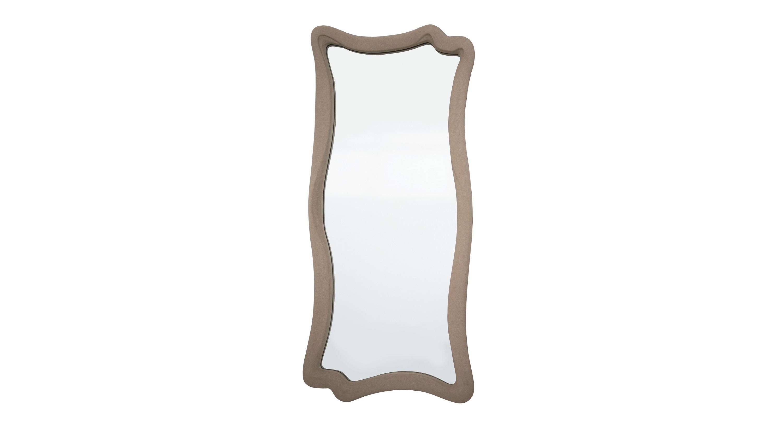 Зеркало МАРЭНастенные зеркала<br>Современное высокое зеркало с рамой плавных текучих форм. Багет изготовлен из формовочного мебельного пенополиуретана и выкрашен в оригинальной манере. Краска теплого песочного оттенка напоминает замшевую текстуру. Композитный материал отличается повышенной износостойкостью, экологичностью, в его составе нет опасных веществ. Такое зеркало можно повесить в ванной, поскольку ППУ не боится влаги.&amp;lt;br&amp;gt;&amp;lt;br&amp;gt;&amp;lt;div&amp;gt;Цвет: Песочный Замша&amp;lt;br&amp;gt;&amp;lt;div&amp;gt;&amp;lt;br&amp;gt;&amp;lt;/div&amp;gt;&amp;lt;div&amp;gt;Производится под заказ. Наличие уточняйте у менеджера.&amp;lt;br&amp;gt;&amp;lt;/div&amp;gt;&amp;lt;/div&amp;gt;<br><br>Material: Полиуретан<br>Ширина см: 53<br>Высота см: 120<br>Глубина см: 4