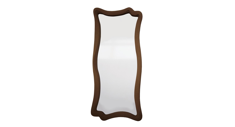Зеркало МАРЭНастенные зеркала<br>Эффектное зеркало в духе сюрреализма с плавными формами и необычной покраской. Рама изготовлена из современного композитного материала. Лакокрасочный слой коричневого оттенка имеет текстуру замши. Краски, как и используемый полиуретан, без запаха и не содержат вредных для человека компонентов, абсолютно безопасны. ППУ влагостоек, поэтому зеркало можно повесить в ванной комнате.&amp;lt;br&amp;gt;&amp;lt;div&amp;gt;&amp;lt;br&amp;gt;&amp;lt;div&amp;gt;Цвет:&amp;amp;nbsp;Коричневая замша&amp;lt;/div&amp;gt;&amp;lt;/div&amp;gt;<br><br>Material: Полиуретан<br>Length см: None<br>Width см: 53<br>Depth см: 4<br>Height см: 120