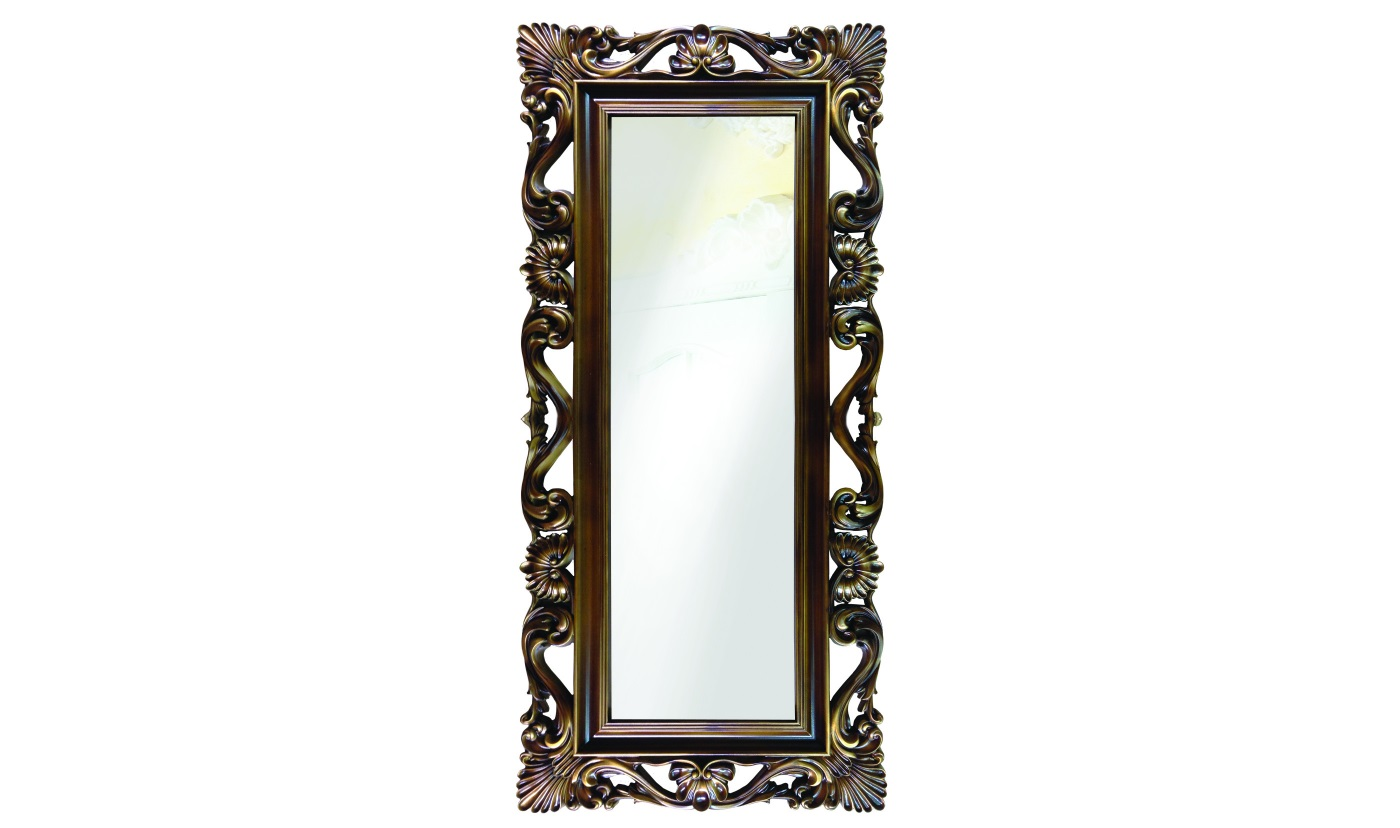 Напольное зеркало интерьерноеНапольные зеркала<br>&amp;lt;div&amp;gt;Высокое напольное зеркало в резной раме &amp;quot;под старину&amp;quot; ? настоящая вещь-настроение. Обрамление изготовлено из мебельного пенополиуретана, достаточно прочного экологичного материала, который с легкостью имитирует натуральную древесину ценных сортов. Но, в отличие от массива, не требует специального ухода, не боится влаги, да и ценник имеет демократичный.&amp;lt;/div&amp;gt;&amp;lt;div&amp;gt;&amp;lt;br&amp;gt;&amp;lt;/div&amp;gt;&amp;lt;div&amp;gt;&amp;lt;div&amp;gt;Цвет:&amp;amp;nbsp;Золотистый Орех&amp;lt;/div&amp;gt;&amp;lt;/div&amp;gt;<br><br>Material: Полиуретан<br>Length см: None<br>Width см: 85<br>Depth см: 4<br>Height см: 186