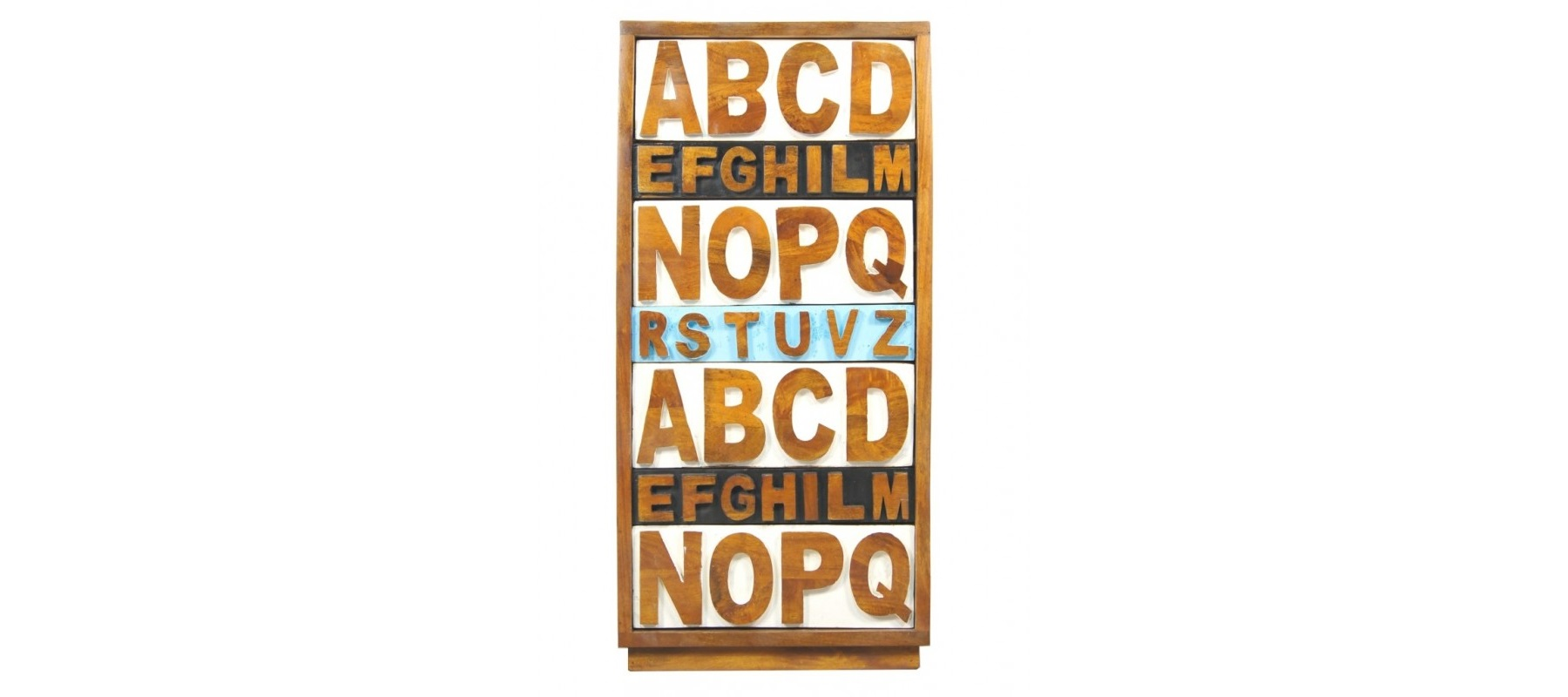 "Etg-Home Комод ""Alphabeto Birch"" голубой"