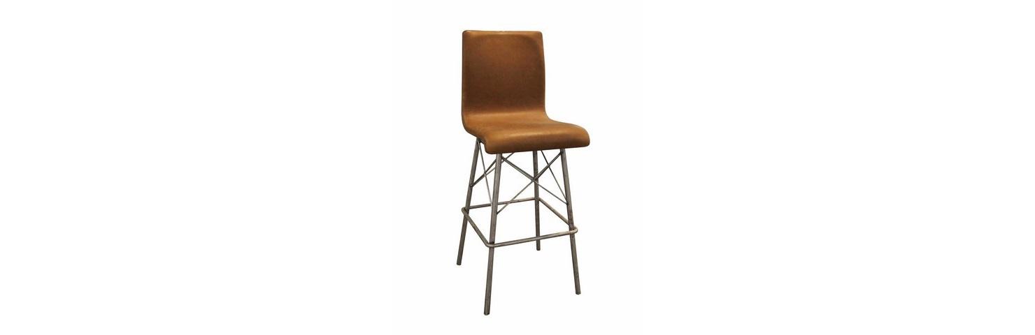 Стул барный ДиаБарные стулья<br>Оформление этого барного стула сочетает в себе аскетизм и брутальность. Само сиденье, выполненное из натуральной кожи, выглядит элегантно благодаря простоте силуэта, созданного единой конструкцией. Металлическое основание из сложного сплетения перпендикулярных и наклонных линий придает облику футуристичность. Противоречивое единение черт винтажа, лофта и современности добавляет дизайну особую притягательность.&amp;lt;div&amp;gt;&amp;lt;br&amp;gt;&amp;lt;/div&amp;gt;&amp;lt;div&amp;gt;Материал каркаса: металл.&amp;lt;/div&amp;gt;&amp;lt;div&amp;gt;Материал обивки: кожа.&amp;lt;/div&amp;gt;<br><br>Material: Металл<br>Width см: 55<br>Depth см: 44<br>Height см: 111