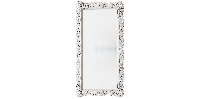 Напольное Зеркало в стиле ПровансНастенные зеркала<br>&amp;lt;div&amp;gt;Это напольное зеркало выполнено в невероятно модном и харизматичном стиле шебби-шик. Чудесная резная рама отлично сочетает винтажные нотки и практичную современность. Багет искусно выточен из мебельного полиуретана, достаточно прочного композитного материала, устойчивого к влаге и простого в уходе. Он окрашен в особой шебби-технике, которая имитирует роскошную поверхность натуральной древесины, изрядно затронутой временем.&amp;lt;/div&amp;gt;&amp;lt;div&amp;gt;&amp;lt;br&amp;gt;&amp;lt;/div&amp;gt;&amp;lt;div&amp;gt;&amp;lt;div&amp;gt;Цвет:&amp;amp;nbsp;Белый Шебби-шик&amp;lt;/div&amp;gt;&amp;lt;/div&amp;gt;<br><br>Material: Полиуретан<br>Ширина см: 88<br>Высота см: 180<br>Глубина см: 4
