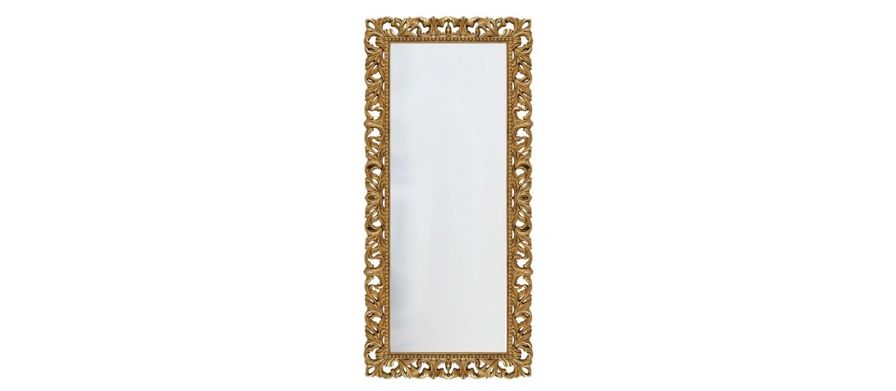 Напольное зеркало интерьерноеНапольные зеркала<br>&amp;lt;div&amp;gt;Это напольное зеркало в роскошной раме стилизовано под старину и, благодаря тонкой ручной работе, выглядит вполне аутентично. Оправа сделана из композитного полиуретана, материала настолько крепкого, что можно не волноваться о сохранности столь тонких резных изразцов. Лакокрасочное покрытие также выше всяческих похвал. Оно экологично, не содержит опасных для здоровья человека компонентов, стойко к попаданию влаги, не тускнеет и не выгорает со временем.&amp;lt;br&amp;gt;&amp;lt;/div&amp;gt;&amp;lt;div&amp;gt;&amp;lt;br&amp;gt;&amp;lt;/div&amp;gt;&amp;lt;div&amp;gt;Цвет:&amp;amp;nbsp;Золото Патина&amp;lt;/div&amp;gt;<br><br>Material: Полиуретан<br>Ширина см: 90<br>Высота см: 190<br>Глубина см: 4