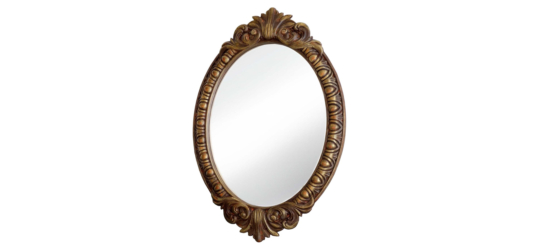Зеркало ВЕНЕЦИЯНастенные зеркала<br>&amp;lt;div&amp;gt;Это овальное зеркало заключено в строгую раму цвета натуральной лакированной древесины, покрытой легкой позолотой. Материалом для такого багета послужил мебельный полиуретан. Он отлично имитирует сложную фактуру дерева, а благодаря своей каменной прочности выдерживает любые механические нагрузки. Сложнейшая резьба не потрескается, не сломается. Лакокрасочное покрытие на ней держится очень крепко и даже годы спустя не теряет яркости.&amp;lt;/div&amp;gt;&amp;lt;div&amp;gt;&amp;lt;br&amp;gt;&amp;lt;/div&amp;gt;&amp;lt;div&amp;gt;Цвет:&amp;amp;nbsp;Золото Антик&amp;lt;/div&amp;gt;<br><br>Material: Полиуретан<br>Length см: None<br>Width см: 72<br>Depth см: 4<br>Height см: 104