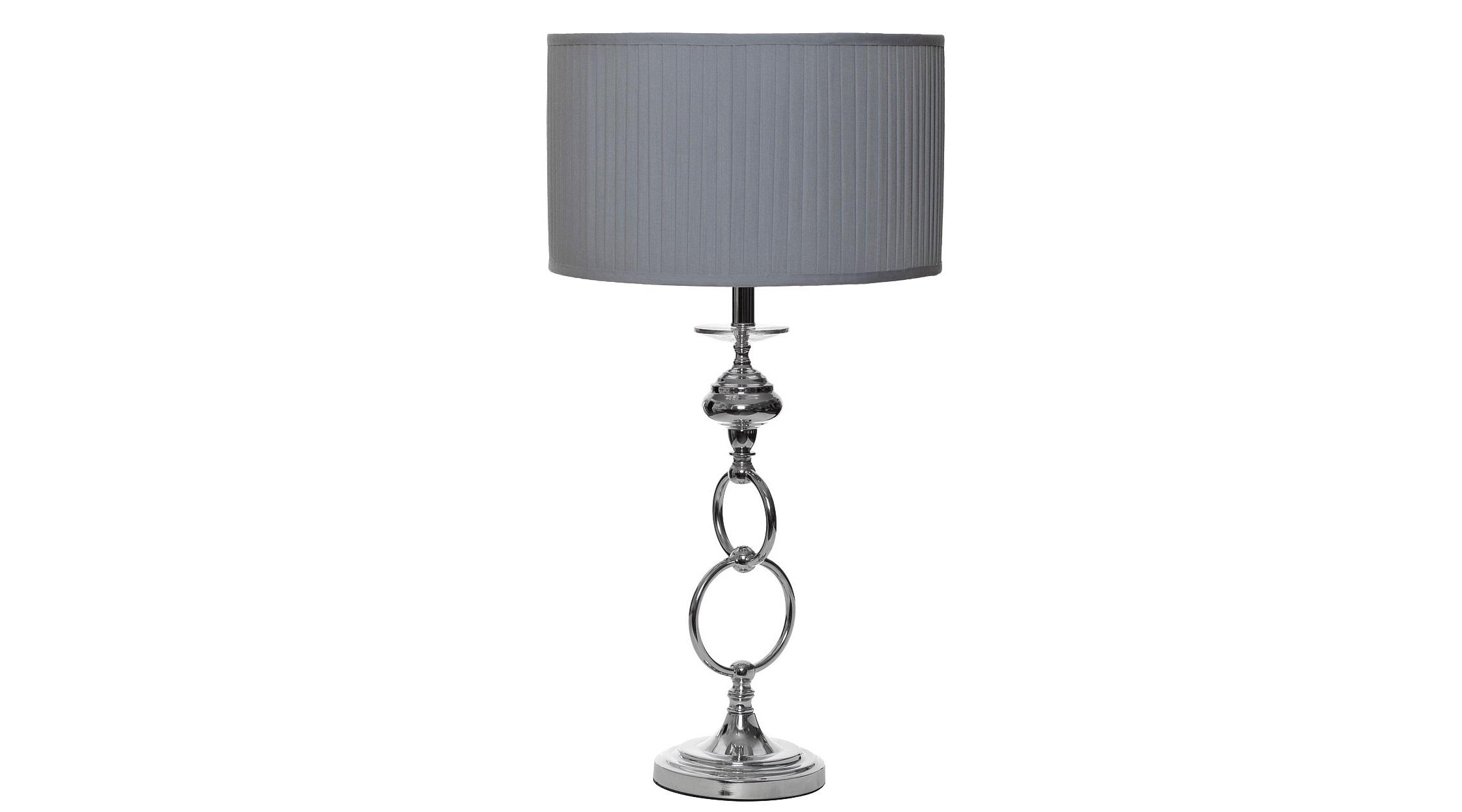 Лампа настольнаяДекоративные лампы<br>Такая лампа станет великолепным дополнением кабинета утонченного эстета. Она заворожит его контрастным сочетанием классического плиссированного абажура и ножки необычной формы. Строгость дизайна в американском стиле разбавят сплетающиеся между собой кольца. Не выходя за рамки, оформление бра обретает изюминку.&amp;lt;div&amp;gt;&amp;lt;br&amp;gt;&amp;lt;/div&amp;gt;&amp;lt;div&amp;gt;Материалы: плафон - ткань, ножка - металл с никелированным покрытием.&amp;lt;/div&amp;gt;&amp;lt;div&amp;gt;Цвет: хром.&amp;lt;/div&amp;gt;&amp;lt;div&amp;gt;Цоколь: Е27.&amp;lt;/div&amp;gt;&amp;lt;div&amp;gt;Мощность: 60W.&amp;lt;/div&amp;gt;<br><br>Material: Металл<br>Ширина см: 40<br>Высота см: 81<br>Глубина см: 40