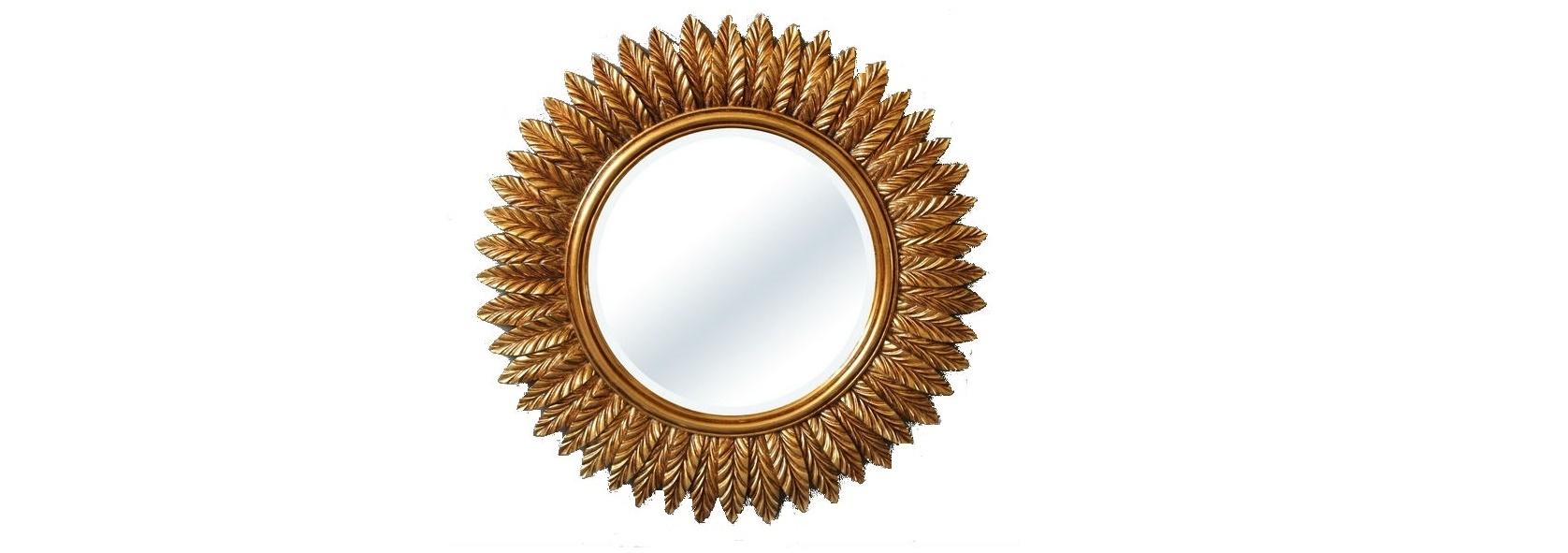 Зеркало в раме модерн BarleyНастенные зеркала<br>Оформление этого зеркала основывается на природной красоте, умело использованной человеком. Главными элементами оригинального орнамента его рамы выступают колосья. Эти растения, впитавшие в себя всю силу летнего солнца, теперь готовы поделиться накопленным теплом с окружающим пространством. Примечательно то, что сама рама также ассоциируется с солнцем благодаря схожим очертаниям силуэтов. Поэтому, если вашему дому не хватает света и лучезарного блеска, то такое зеркало должно стать центральным объектом его дизайна.&amp;lt;div&amp;gt;&amp;lt;br&amp;gt;&amp;lt;/div&amp;gt;&amp;lt;div&amp;gt;Влагостойкое серебряное зеркало.&amp;lt;/div&amp;gt;&amp;lt;div&amp;gt;Материал рамы: полирезин.&amp;lt;/div&amp;gt;&amp;lt;div&amp;gt;Цвет зеркала/рамы: античное золото.&amp;lt;/div&amp;gt;&amp;lt;div&amp;gt;Размер внешний, с рамой: диаметр 89 см.&amp;lt;/div&amp;gt;&amp;lt;div&amp;gt;Вес: 8 кг.&amp;lt;/div&amp;gt;<br><br>Material: Пластик<br>Width см: 89<br>Depth см: 4<br>Height см: 89