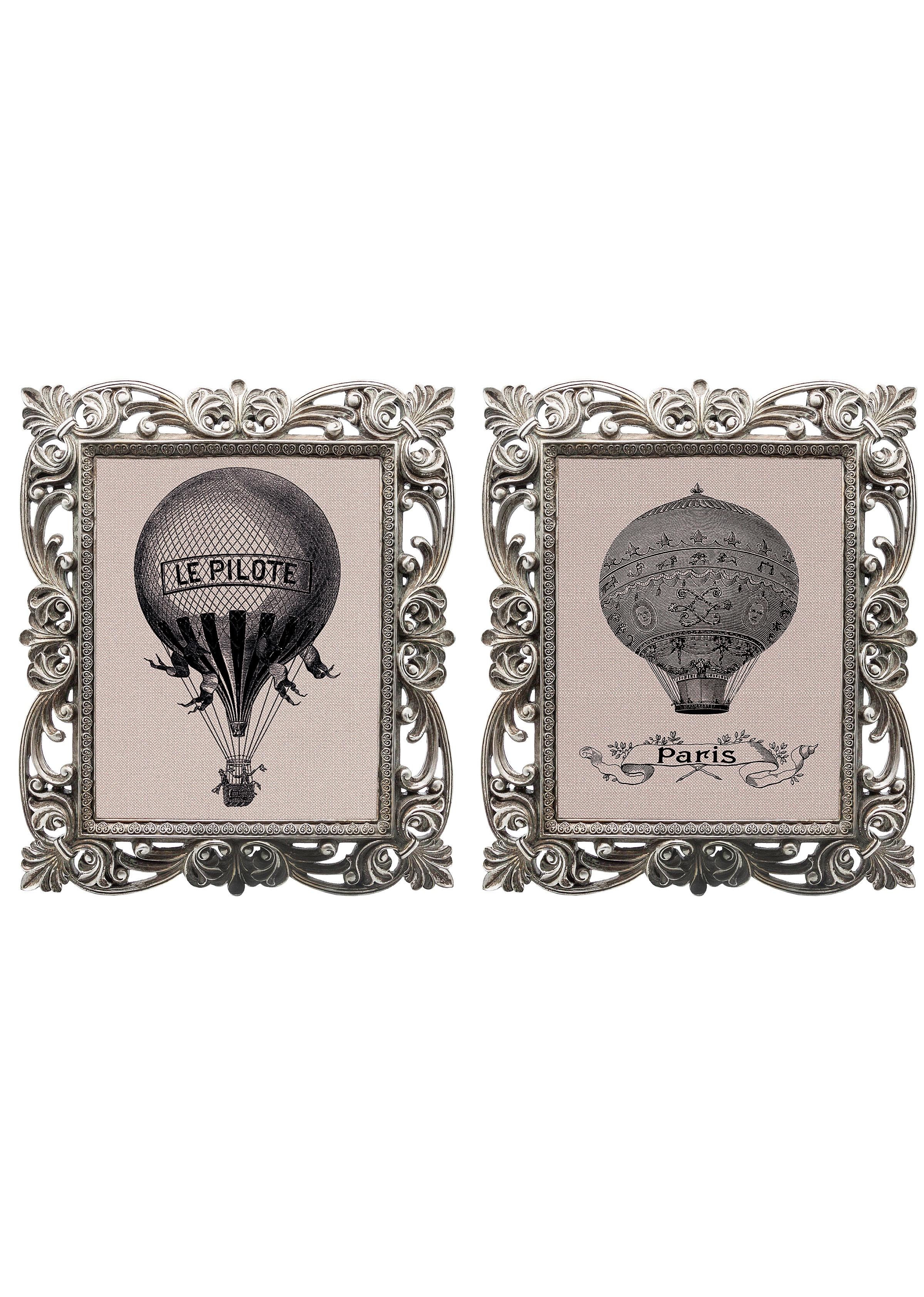 Набор из двух репродукций БеатрисКартины<br>&amp;lt;div&amp;gt;Приятно приходить в дом, в котором каждый уголок уютен и очарователен. Уникальные старинные гравюры «Полет на воздушном шаре» в окружении изящных рам создают особую романтическую атмосферу. Изображения завораживают и погружают в магическую атмосферу таинства. Пусть ваш дом наполнится чудесами! Искусная техника состаривания придает рамам особую теплоту и винтажность. Благородная патина на поверхности рам — интригующее приглашение к прогулке в мир старинных реликвий! Картины можно повесить на стену, а можно поставить, например, на стол или камин. Если Вам захочется обновить интерьер, Вы можете с легкостью заменить изображение картин!&amp;lt;/div&amp;gt;&amp;lt;div&amp;gt;&amp;lt;br&amp;gt;&amp;lt;/div&amp;gt;&amp;lt;div&amp;gt;Изображение - дизайнерская бумага; рама - искуственный камень; защитный слой - стекло&amp;amp;nbsp;&amp;lt;/div&amp;gt;&amp;lt;div&amp;gt;цвет:мультиколор&amp;amp;nbsp;&amp;lt;/div&amp;gt;<br><br>Material: Бумага<br>Ширина см: 30<br>Высота см: 35<br>Глубина см: 2