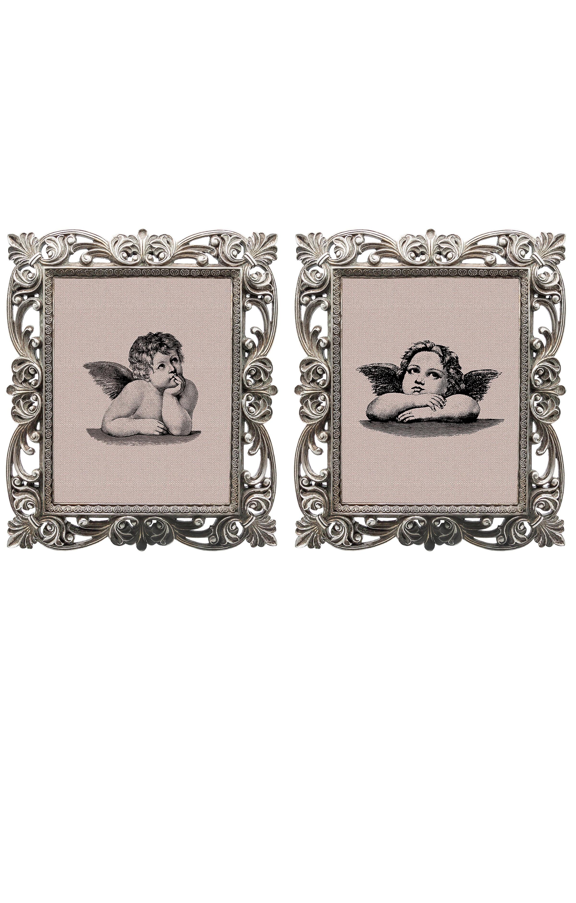 Набор из двух репродукций старинных картин в раме Беатрис. Ангелы сантиКартины<br>&amp;lt;div&amp;gt;Репродукции старинных изображений «Ангелы Санти» — словно череда вековых романтических дежавю. Этот предмет декора демонстрирует взыскательный вкус владельца и вызывает у гостей живой интерес к домашнему убранству. Созданная удивлять и ежедневно дарить прекрасное настроение, эти старинные гравюра займут достойное место в Вашем интерьере. Искусная техника состаривания придает рамам особую теплоту и винтажность. Благородная патина на поверхности рам — интригующее приглашение к прогулке в мир старинных реликвий! Картины можно повесить на стену, а можно поставить, например, на стол или камин. Если Вам захочется обновить интерьер, Вы можете с легкостью заменить изображение картин!&amp;lt;/div&amp;gt;&amp;lt;div&amp;gt;&amp;lt;br&amp;gt;&amp;lt;/div&amp;gt;&amp;lt;div&amp;gt;Изображение - дизайнерская бумага; рама - искуственный камень; защитный слой - стекло&amp;amp;nbsp;&amp;lt;/div&amp;gt;&amp;lt;div&amp;gt;цвет:мультиколор&amp;amp;nbsp;&amp;lt;/div&amp;gt;&amp;lt;div&amp;gt;&amp;lt;br&amp;gt;&amp;lt;/div&amp;gt;<br><br>Material: Бумага<br>Width см: 30<br>Depth см: 2,3<br>Height см: 35