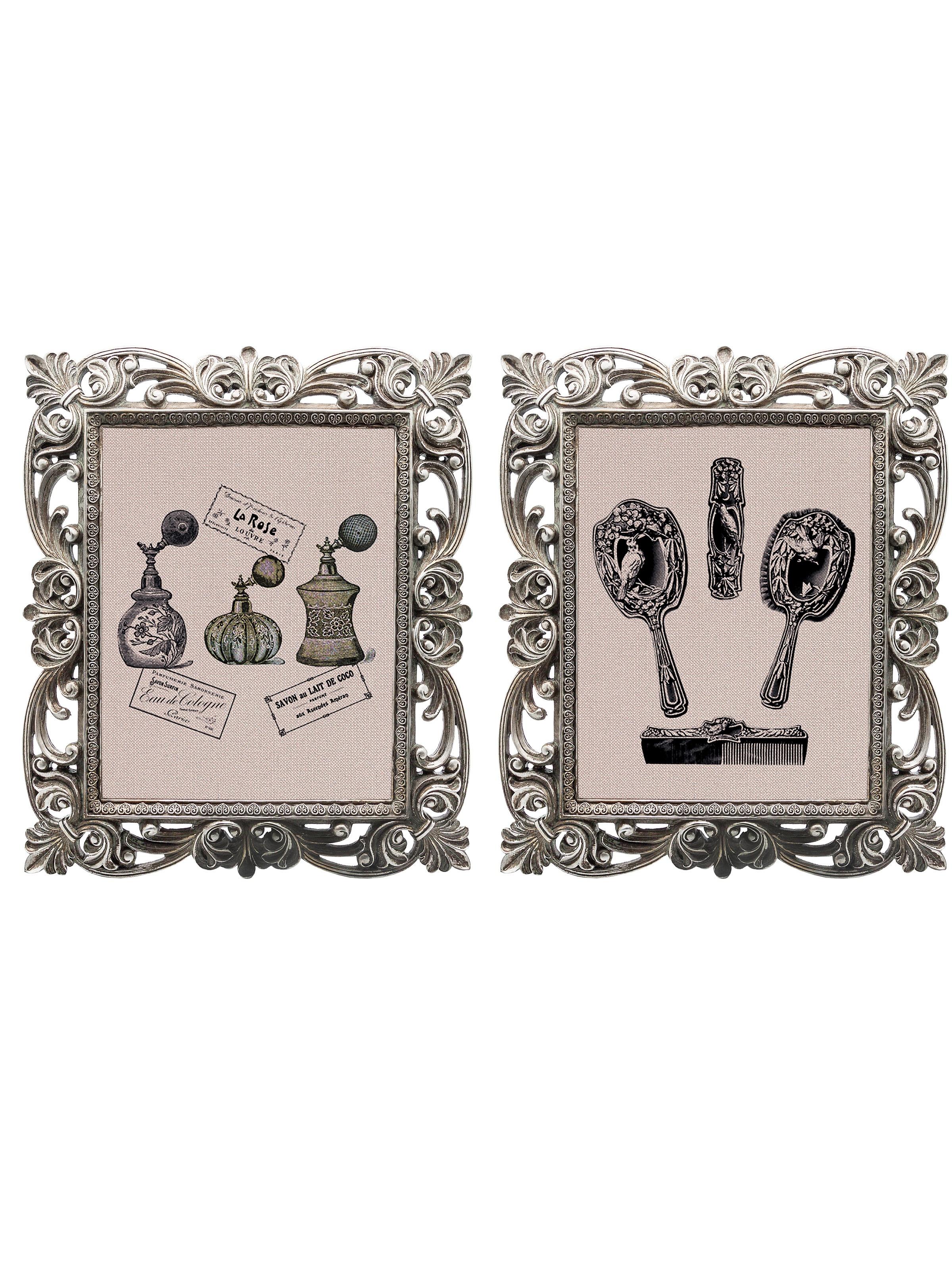 Набор из двух репродукций старинных картин в раме Беатрис. Дамские штучкиКартины<br>&amp;lt;div&amp;gt;Приятно приходить в дом, в котором каждый уголок уютен и очарователен. Уникальные старинные гравюры «Дамские штучки» в окружении изящных рам создают особую романтическую атмосферу. Изображения завораживают и погружают в магическую атмосферу таинства. Пусть ваш дом наполнится чудесами! Искусная техника состаривания придает рамам особую теплоту и винтажность. Благородная патина на поверхности рам — интригующее приглашение к прогулке в мир старинных реликвий! Картины можно повесить на стену, а можно поставить, например, на стол или камин. Если Вам захочется обновить интерьер, Вы можете с легкостью заменить изображение картин!&amp;lt;/div&amp;gt;&amp;lt;div&amp;gt;&amp;lt;br&amp;gt;&amp;lt;/div&amp;gt;&amp;lt;div&amp;gt;Изображение - дизайнерская бумага; рама - искуственный камень; защитный слой - стекло &amp;amp;nbsp;&amp;amp;nbsp;&amp;lt;/div&amp;gt;&amp;lt;div&amp;gt;цвет:мультиколор&amp;amp;nbsp;&amp;lt;/div&amp;gt;<br><br>Material: Бумага<br>Width см: 30<br>Depth см: 2,3<br>Height см: 35