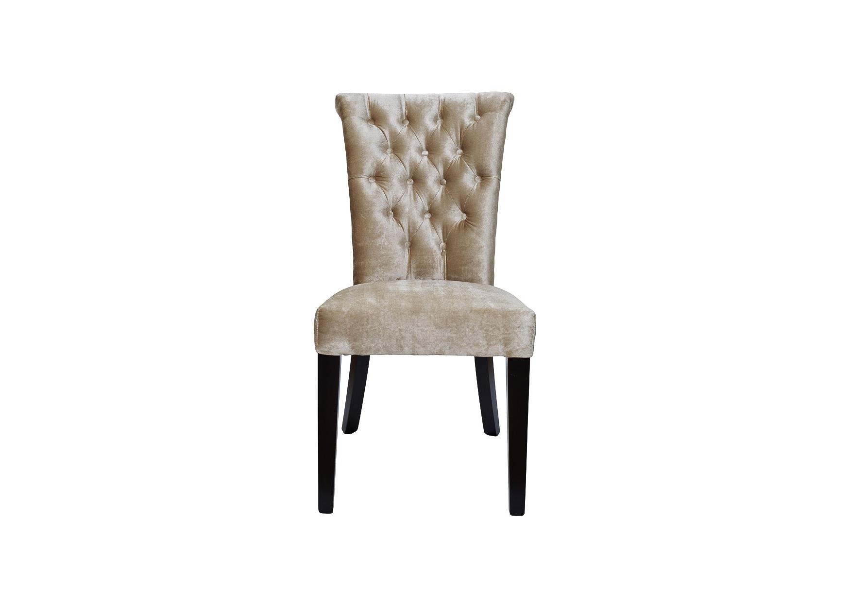 Стул с кольцомОбеденные стулья<br>Такой стул, отличающийся элитарностью, послужит лучшим дополнением для спальни, столовой или гостиной в стиле ар деко. Эффектная обивка из фактурного бархата бежевого цвета позволяет ему выглядеть ярко. Детали вроде каретной стяжки и аккуратного кольца на спинке придают дизайну классическое очарование. Легкая асимметрия передних и задних ножек не нарушает правильных пропорций, одновременно добавляя силуэту оригинальность.&amp;amp;nbsp;&amp;lt;div&amp;gt;&amp;lt;br&amp;gt;&amp;lt;/div&amp;gt;&amp;lt;div&amp;gt;Материалы: бархат фактурный бежевый, деревянные ножки темно-коричневого цвета.&amp;lt;/div&amp;gt;<br><br>Material: Бархат<br>Ширина см: 47<br>Высота см: 98<br>Глубина см: 52