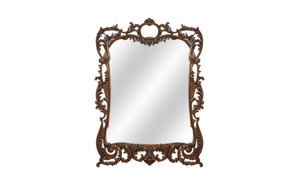 ЗеркалоНастенные зеркала<br>Богато украшенная рама выступает изюминкой этого зеркала. Сотканная множеством акантовых листьев, искусно вырезанных мастерами из красной древесины, она выглядит роскошно. Помпезности и вычурности ее лишает красота натурального материала, заключенная в сдержанном изяществе. Эффектное, но скромное оформление идеально дополнит гостиные, холлы или кабинеты в английском стиле.&amp;lt;div&amp;gt;&amp;lt;br&amp;gt;&amp;lt;/div&amp;gt;&amp;lt;div&amp;gt;Выполнено из массива красного дерева. Ручная работа.&amp;lt;/div&amp;gt;<br><br>Material: Красное дерево<br>Width см: 82<br>Depth см: 3<br>Height см: 114