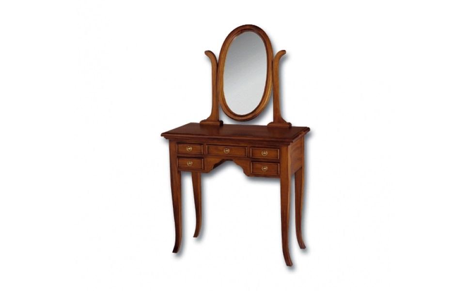 Туалетный столикТуалетные столики<br>&amp;lt;div&amp;gt;Такой элегантный столик – мечта каждой романтичной барышни XVIII века. Не зря говорят, что по оформлению будуара можно судить о характере дамы. Модель от Satin Furniture создана для истинной леди. Классические формы создают сдержанный аристократичный силуэт. Легкий изгиб линий скромно подчеркивает лаконичность и утонченность образа. Миниатюрные ящики с декоративными ручками добавят в композицию изысканности и шарма.&amp;amp;nbsp;&amp;lt;br&amp;gt;&amp;lt;/div&amp;gt;&amp;lt;div&amp;gt;&amp;lt;br&amp;gt;&amp;lt;/div&amp;gt;Выполнено из массива красного дерева. Ручная работа.<br><br>Material: Красное дерево<br>Width см: 140<br>Depth см: 40<br>Height см: 80