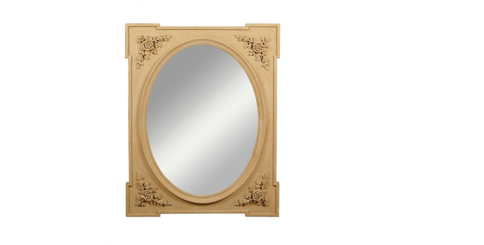 Зеркало EleonoraНастенные зеркала<br>Eleonora сочетает в себе классические традиции и солнечную прованскую стилистику. Овальное зеркало в раме прямоугольной формы создает лаконичный и простой силуэт. Модель украшена лепниной в виде изысканных цветов. Такие романтичные штрихи привнесут в пространство теплоту и душевность, чего так не хватает современным интерьерам.&amp;amp;nbsp;<br><br>Material: МДФ<br>Width см: 80<br>Depth см: 3<br>Height см: 100