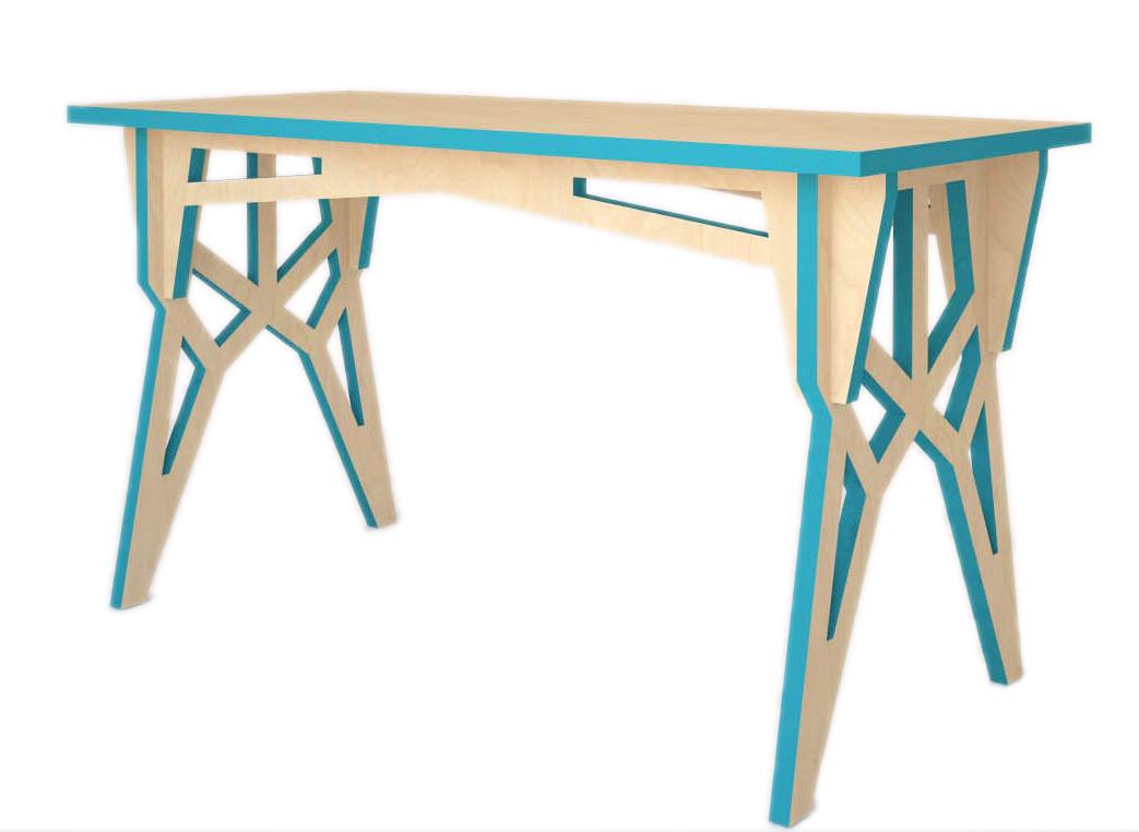 Стол ЛЭППисьменные столы<br>&amp;lt;div&amp;gt;&amp;lt;span style=&amp;quot;line-height: 24.9999px;&amp;quot;&amp;gt;При обустройстве собственного пространства, хочется, чтобы каждый предмет был особенным. Дизайнеры бренда Good Design учли этот момент и спроектировали стол в комбинации скандинавского стиля и&amp;amp;nbsp;&amp;lt;/span&amp;gt;&amp;lt;span style=&amp;quot;line-height: 24.9999px;&amp;quot;&amp;gt;конструктивизма&amp;lt;/span&amp;gt;&amp;lt;span style=&amp;quot;line-height: 24.9999px;&amp;quot;&amp;gt;. Особенным в его образе выступает контрастная отделка: сочетание белого и&amp;amp;nbsp;бирюзового&amp;amp;nbsp;образуют яркий дуэт.&amp;amp;nbsp;Такой стол превратит любую работу в удовольствие!&amp;lt;/span&amp;gt;&amp;lt;/div&amp;gt;&amp;lt;div&amp;gt;&amp;lt;br&amp;gt;&amp;lt;/div&amp;gt;Дизайнерский стол для модного интерьера в стиле ЛЭП&amp;lt;div&amp;gt;Цвет: бирюза&amp;lt;/div&amp;gt;&amp;lt;div&amp;gt;Материал: березовая фанера, масло с твердым воском&amp;lt;/div&amp;gt;<br><br>Material: Фанера<br>Width см: 100<br>Depth см: 60<br>Height см: 76