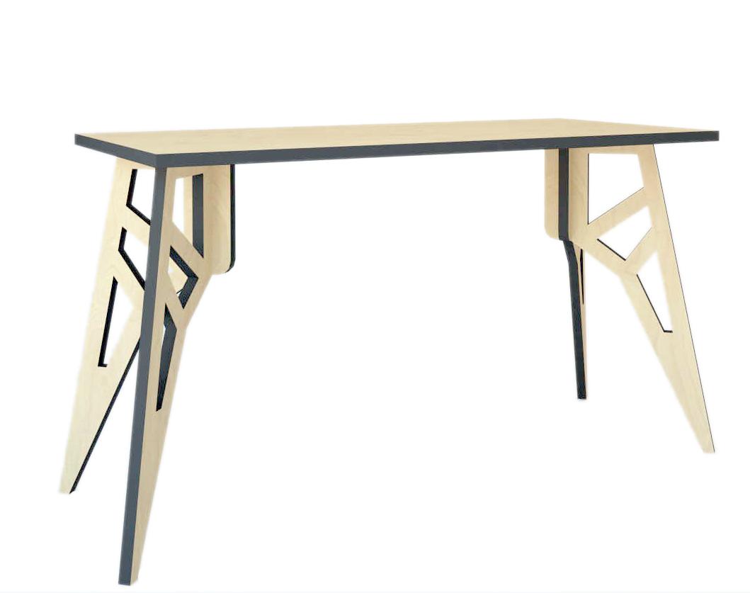 Стол БабочкаПисьменные столы<br>В оформлении этого стола заложена особая философия. Он выглядит очень светлым и уютным, несмотря на то, что его пропорции вдохновлены очертаниями мрачных опор линий электропередач. Силуэт этих городских построек обретает новую жизнь благодаря продуманной отделке. Светлая березовая фанера в сочетании с графитовыми вставками дарит столу удивительно романтичный облик, идеальный для квартир в урбанистичном современном стиле.&amp;lt;div&amp;gt;&amp;lt;br&amp;gt;&amp;lt;/div&amp;gt;&amp;lt;div&amp;gt;Цвет: графит.&amp;lt;/div&amp;gt;&amp;lt;div&amp;gt;Материал: березовая фанера, масло с твердым воском.&amp;lt;/div&amp;gt;<br><br>Material: Фанера<br>Width см: 140<br>Depth см: 60<br>Height см: 76
