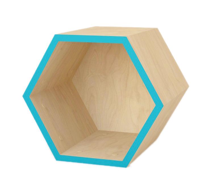 Сота - конструкторСтеллажи<br>Этот элемент вы можете использовать как самостоятельную полку или в качестве детали для построения стеллажа. В любом случае, она будет выглядеть ярко и необычно в интерьере, привнося в него очарование натуральной красоты. Обработанная древесина светлого оттенка, дополненная яркими бирюзовыми полосками, подарит оформлению пространства больше света и тепла. Особенно хорошо такая полка будет смотреться в помещении в скандинавском стиле, тяготеющем к практичности и простоте.&amp;lt;div&amp;gt;&amp;lt;br&amp;gt;&amp;lt;/div&amp;gt;&amp;lt;div&amp;gt;Цвет: бирюза.&amp;lt;/div&amp;gt;&amp;lt;div&amp;gt;Материал: березовая фанера, масло с твердым воском.&amp;lt;/div&amp;gt;<br><br>Material: Фанера<br>Width см: 32<br>Depth см: 30<br>Height см: 40