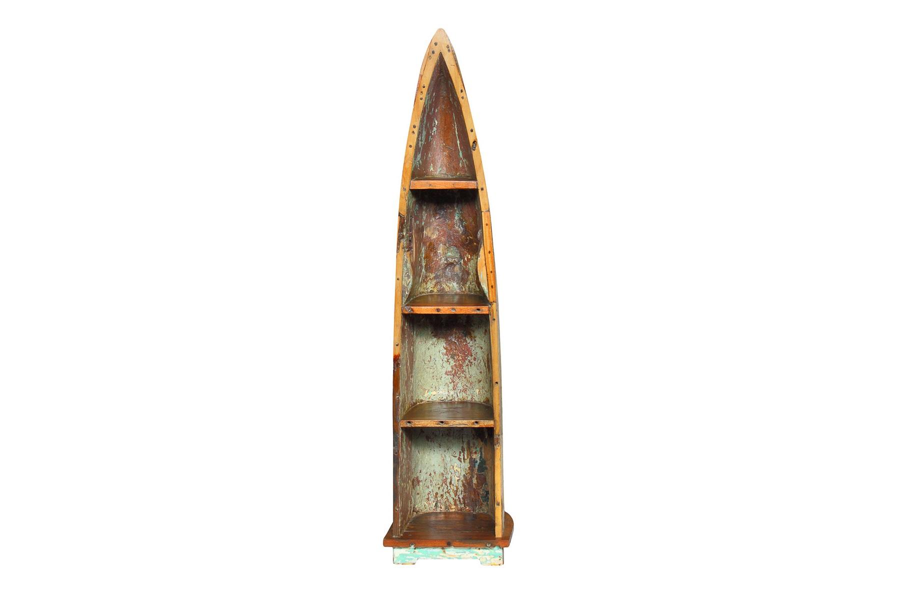Лодка-стеллаж КандинскийСтеллажи<br>Эта лодка не случайно названа именем выдающегося русского живописца. Как известно, он был основоположников абстракционизма, который мы можем увидеть и в оформлении оригинального стеллажа. &amp;quot;Иллюстрации&amp;quot; создались из слоев краски, отколовшейся в результате более чем десятилетнего использования лодки. Вместе с местами потемневшей древесиной они выглядят вдохновляющими и рождают в мыслях образы, которым бы позавидовал сам Кандинский.&amp;lt;div&amp;gt;&amp;lt;br&amp;gt;&amp;lt;/div&amp;gt;&amp;lt;div&amp;gt;Имеет 4 полки разной вместимости.&amp;lt;/div&amp;gt;&amp;lt;div&amp;gt;Подходит для использования как внутри помещения, так и снаружи.&amp;lt;/div&amp;gt;&amp;lt;div&amp;gt;Сборка не требуется.&amp;lt;/div&amp;gt;&amp;lt;div&amp;gt;Покрытие: шеллак.&amp;lt;/div&amp;gt;&amp;lt;div&amp;gt;Материал: массив тика (махогони, суара).&amp;lt;/div&amp;gt;<br><br>Material: Тик<br>Width см: 47<br>Depth см: 41<br>Height см: 298