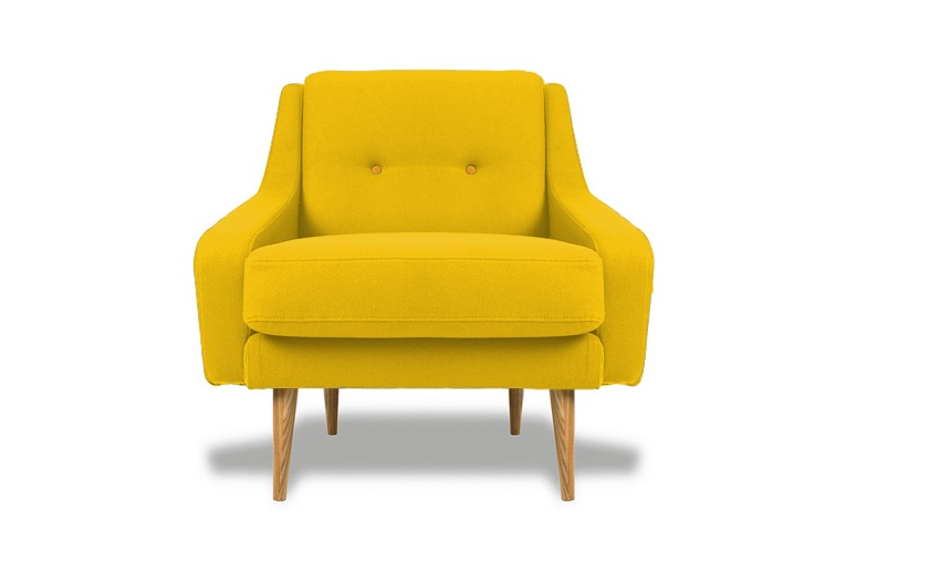 Кресло Одри YELLOWИнтерьерные кресла<br>&amp;lt;div&amp;gt;&amp;lt;div&amp;gt;&amp;lt;div&amp;gt;Ретро-кресло в духе 60-х годов XX века ? необыкновенно стильная вещь. Чехол из плотной ткани окрашен в насыщенный оттенок охры. Спинка декорирована крупными пуговицами в технике капитоне. Ножки изготовлены из натуральной древесины светлого оттенка. Наполнителем служит полиуретан ? гипоаллергенный современный материал. Сиденье высотой 42 см представляет собой отдельную съемную подушку.&amp;lt;/div&amp;gt;&amp;lt;/div&amp;gt;&amp;lt;/div&amp;gt;<br><br>Material: Текстиль<br>Width см: 85<br>Depth см: 85<br>Height см: 85