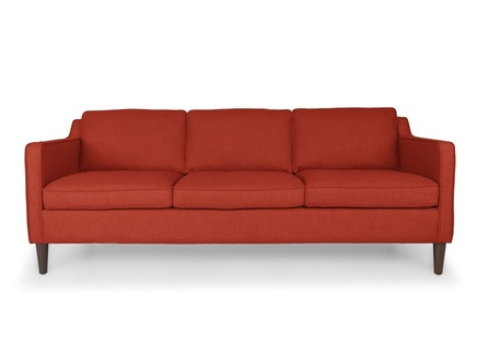 Трехместный диван грейс l (vysotkahome) красный 205x81x89 см.