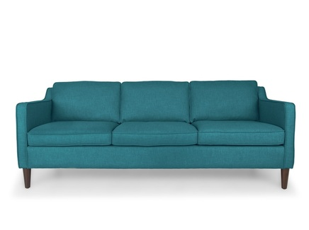 Трехместный диван грейс l (vysotkahome) синий 205x81x89 см.
