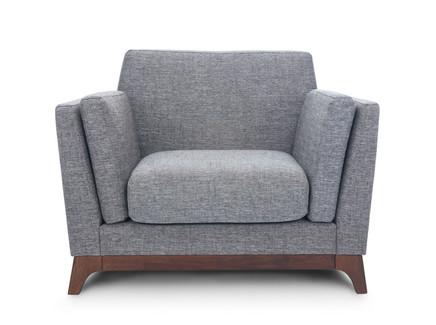 Кресло лексингтон (vysotkahome) серый 100x79x89 см.