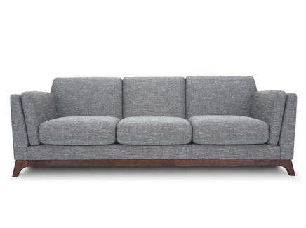 Трехместный диван лексингтон l (vysotkahome) серый 210x79x89 см.