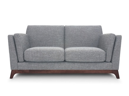 Двухместный диван лексингтон s (vysotkahome) серый 150x79x89 см.