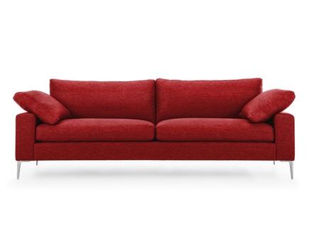 Диван мэдисон l (vysotkahome) красный 230x81x88 см.