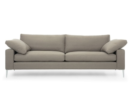Трехместный диван мэдисон l (vysotkahome) серый 230x81x88 см.