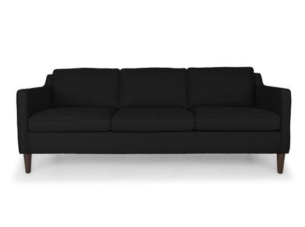 Трехместный диван грейс l (vysotkahome) черный 205x81x89 см.